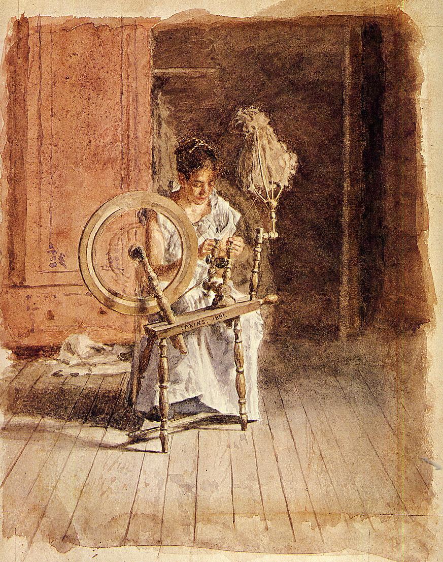 Thomas Eakins. Spinning