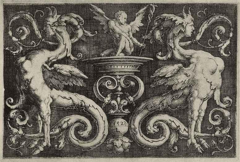 Лукас ван Лейден (Лука Лейденский). Орнамент с грифонами