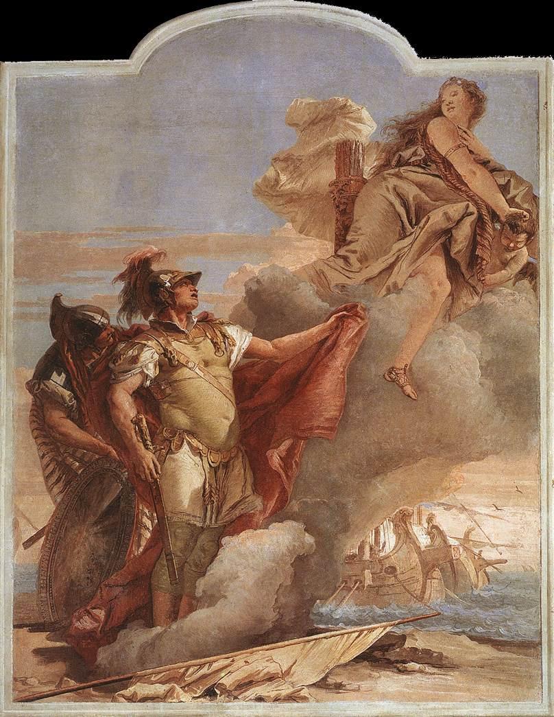 Джованни Баттиста Тьеполо. Явление Энея на берегах Карфагена