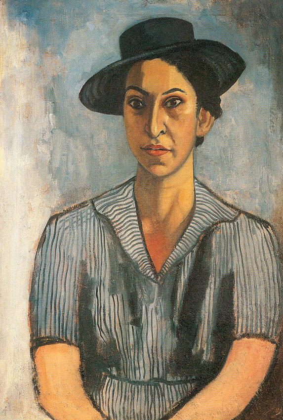 Алиса Нил. Портрет женщины в черной шляпе