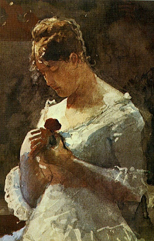 Winslow Homer. Woman with rose