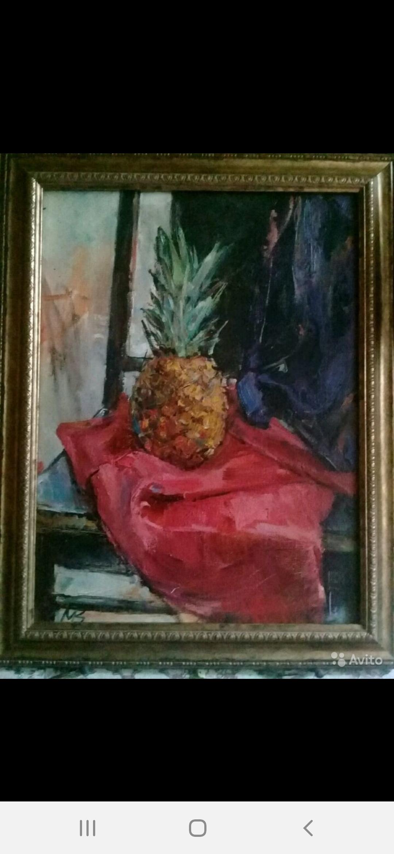 Lidia Anatolyevna Kudelina. Pineapple on red