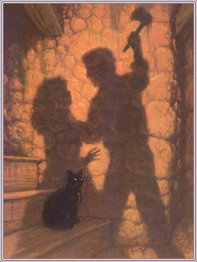an analysis of the story the black cat by edgar allan poe