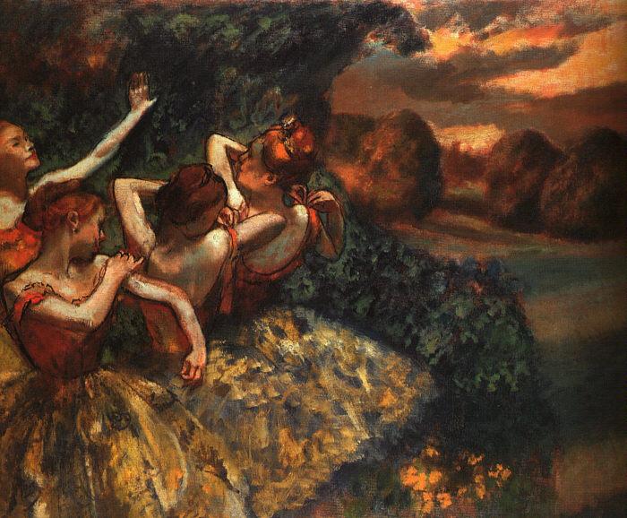 Эдгар Дега. Четыре балерины