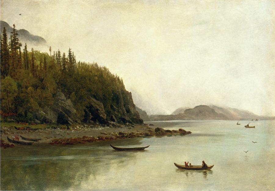 Альберт Бирштадт. Рыбалка индейцев