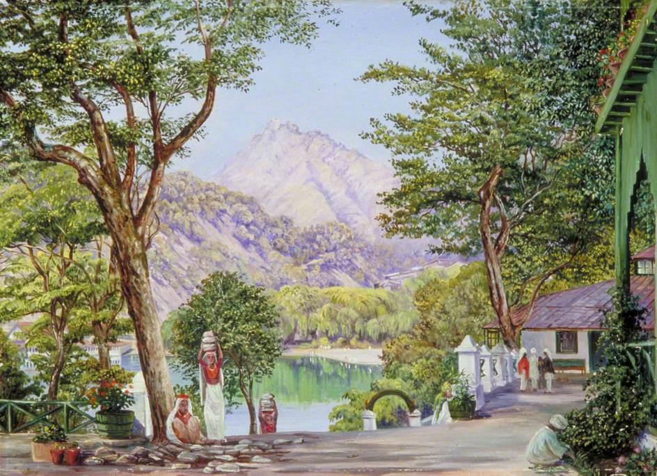 Marianna North. Gardening in Naini Taale, India