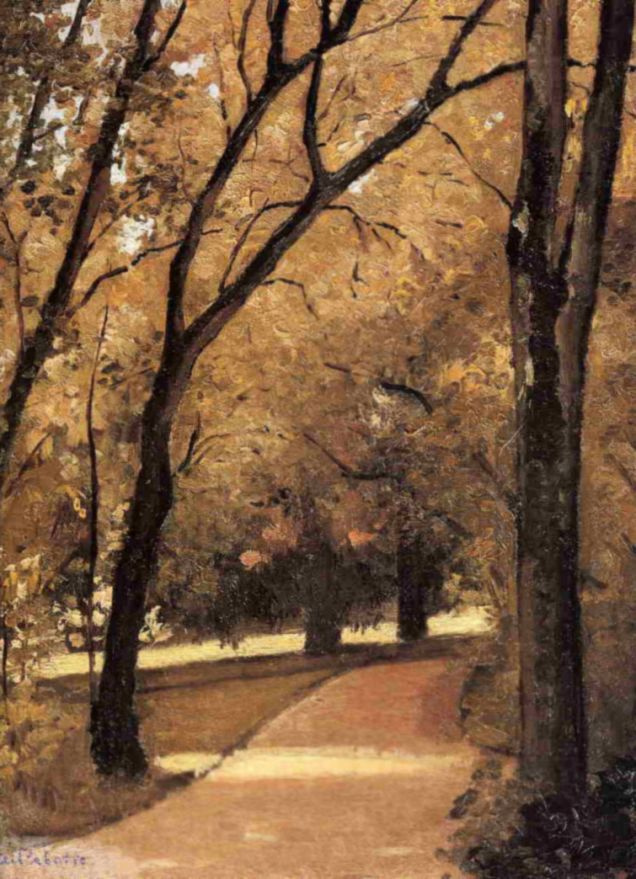 Gustave Caillebotte. Path in the Park, Hyeres