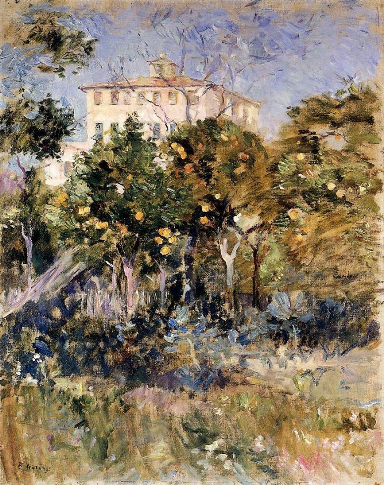 Берта Моризо. Вилла с апельсиновыми деревьями, Ницца