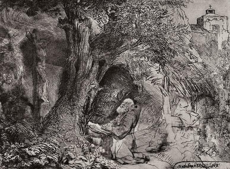 Рембрандт Харменс ван Рейн. Святой Франциск