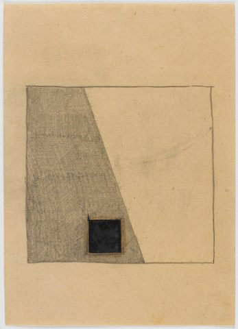 Kazimir Malevich. Composition 1 e (Suprematism: the Square on the diagonal of the surface)