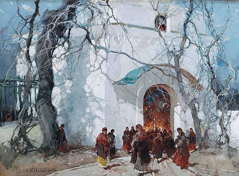 Stepan Fedorovich Kolesnikov (Odessa). Russian Easter