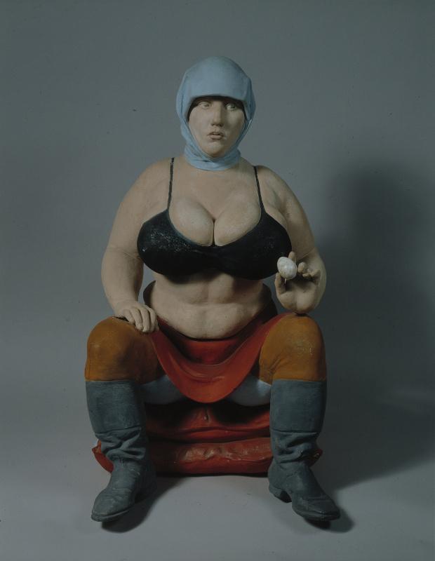 Alexander Iulianovich Rukavishnikov. Woman with egg