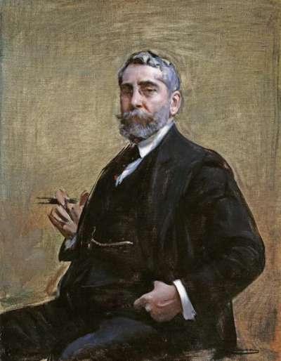 Рамон Касас Карбо. Автопортрет на стуле