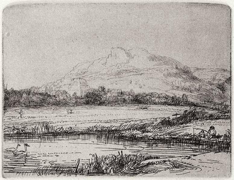 Рембрандт Ван Рейн. Канал с лебедями