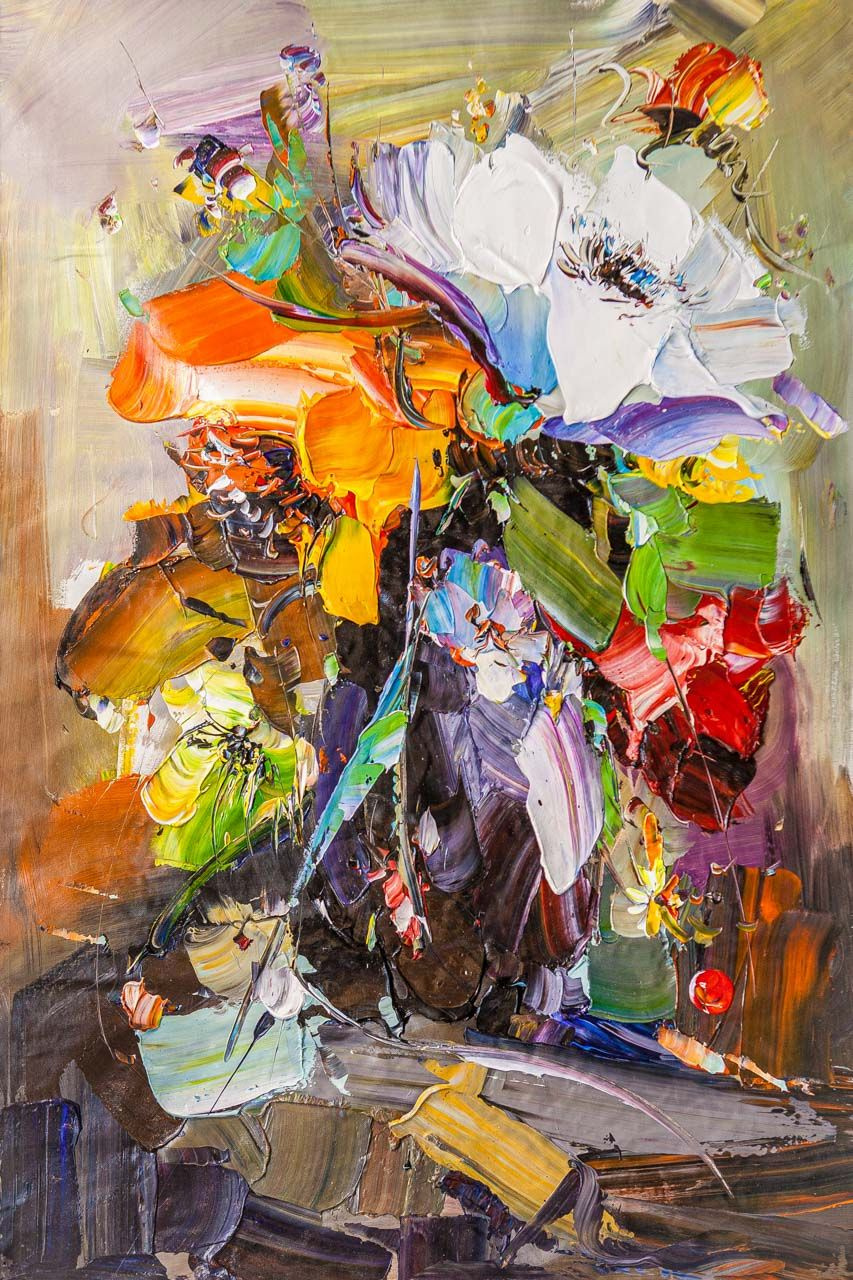 Jose Rodriguez. Bright bouquet in a vase