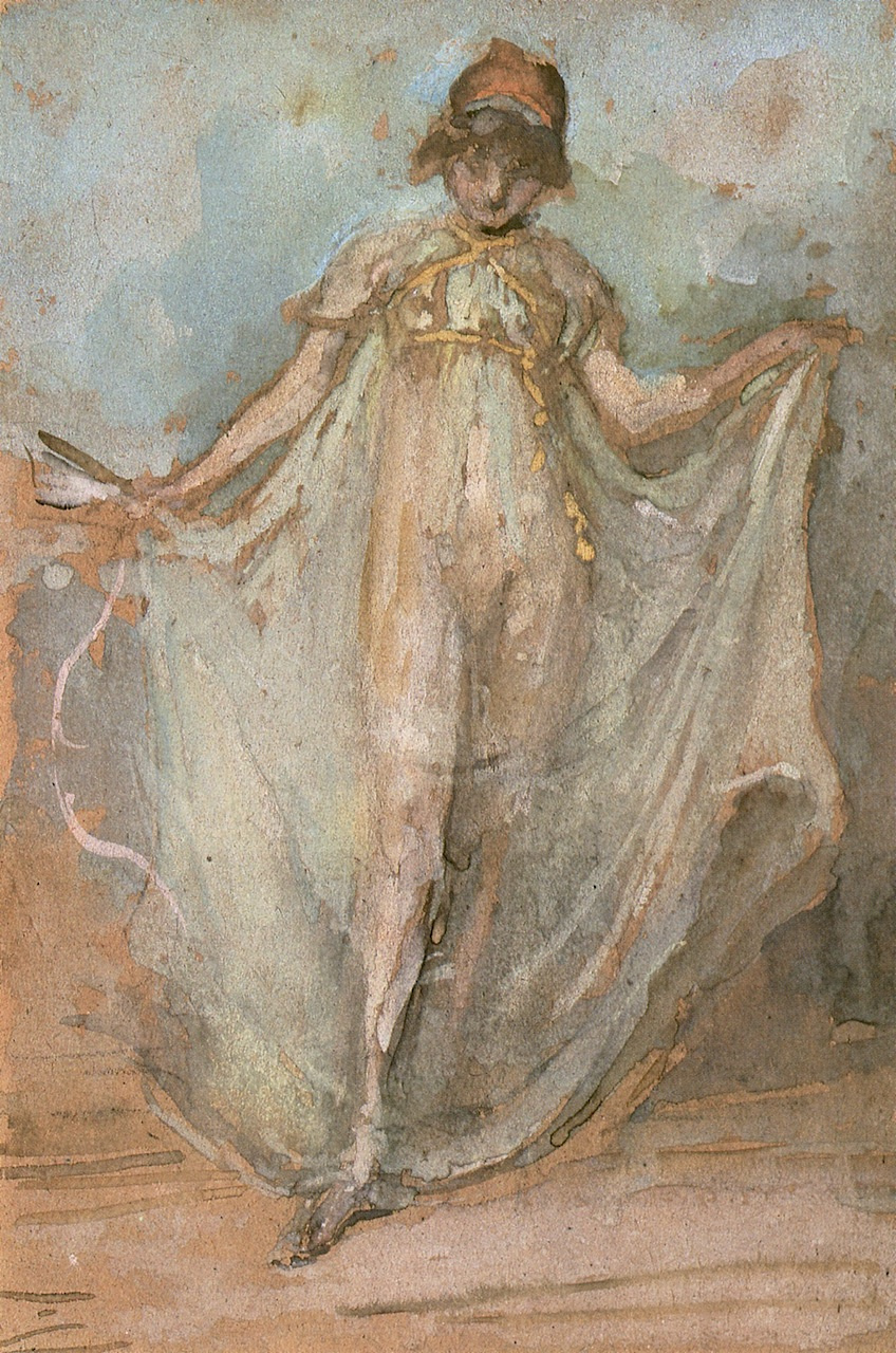 James Abbot McNeill Whistler. Green and gold: the Dancer