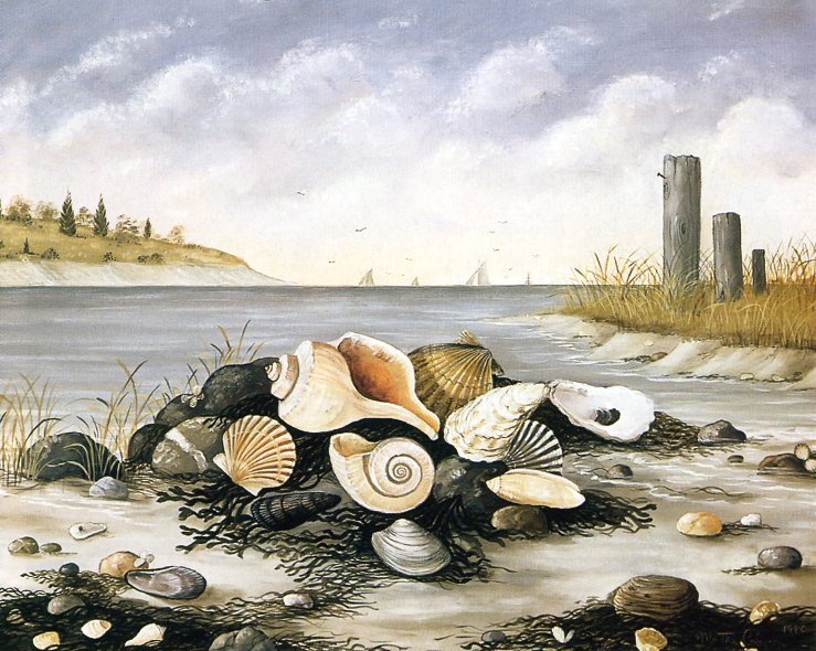 Marta Kaun. Landscape with shells