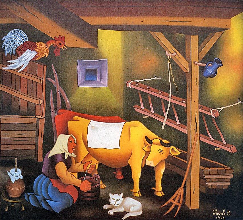 Бранко Ловак. Корова и доярка