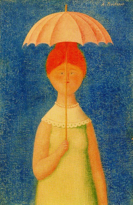 Антонио Буэно. Девушка под зонтом