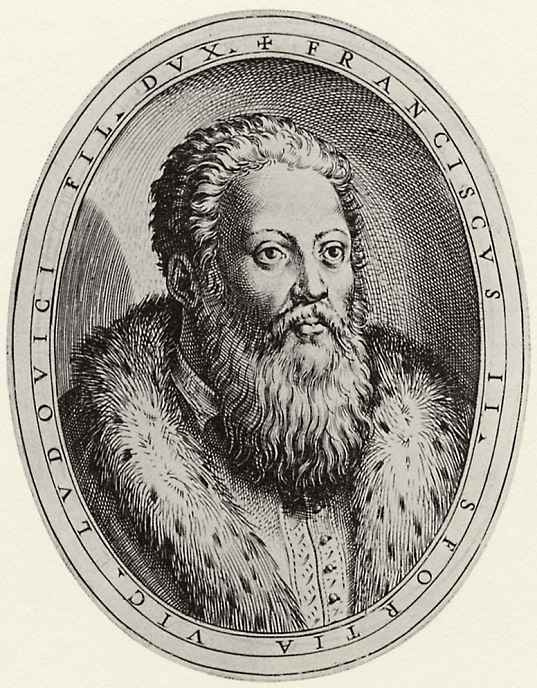 "Antonio Campi. Illustration of the work of Antonio Campi, ""the Story of Cremona"", Portrait of Francesco Maria Sforza"