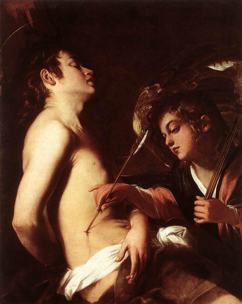 Джованни Бальоне (Баглионе). Ангел, исцеляющий святого Себастьяна