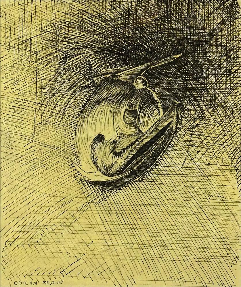 Одилон Редон. Спящая летучая мышь
