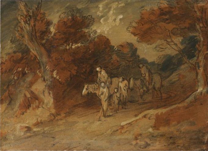 Томас Гейнсборо. Путники на лесной дороге
