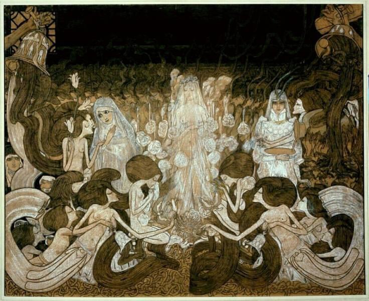 Ян (Йоханес) Теодор Тороп. Три невесты