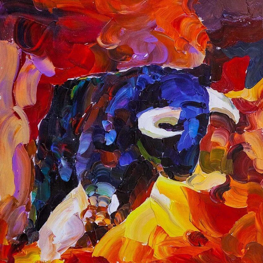 Jose Rodriguez. Fire bullfight