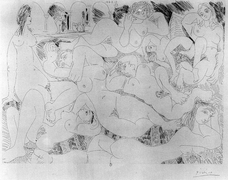 Пабло Пикассо. Оргия