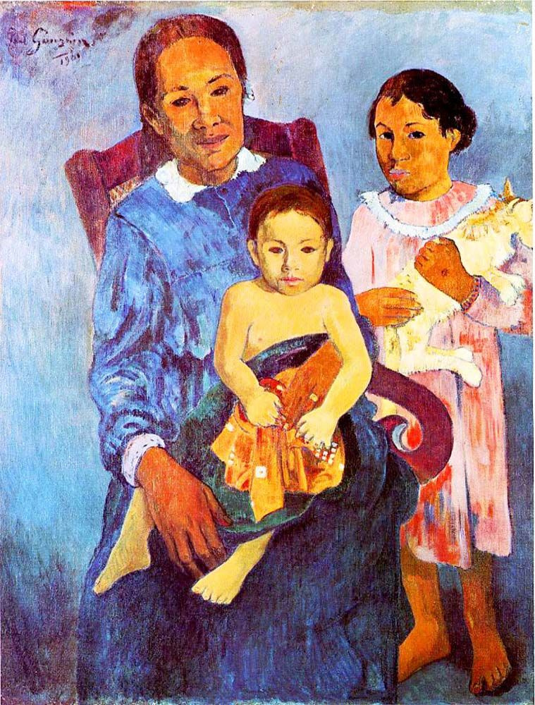 Поль Гоген. Таитянская женщина с двумя детьми