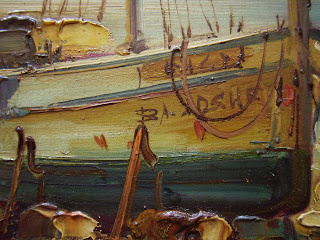 Spanish seascape with fishing boats.