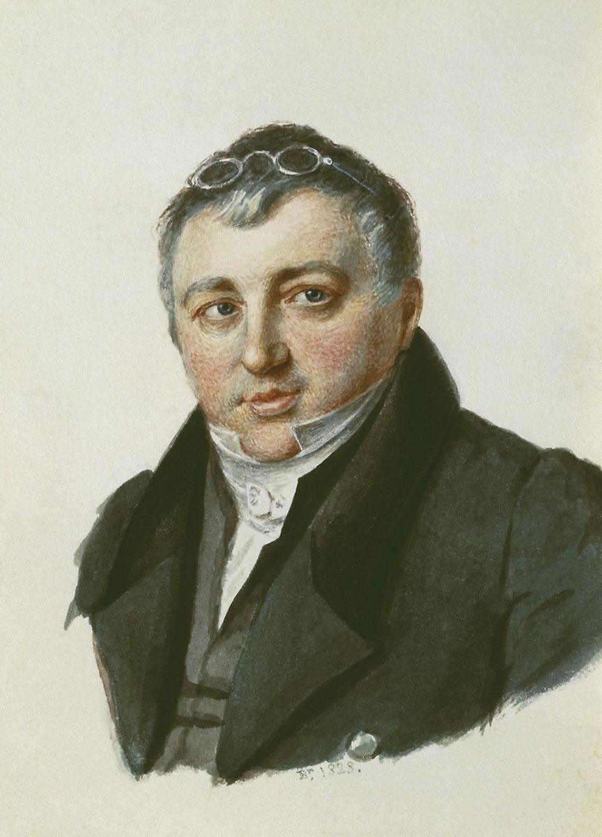 Alexander Pavlovich Bryullov. Portrait of Baron P. L. Schilling von Kapstadt. 1828