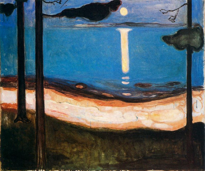 Edvard Munch. Moonlight