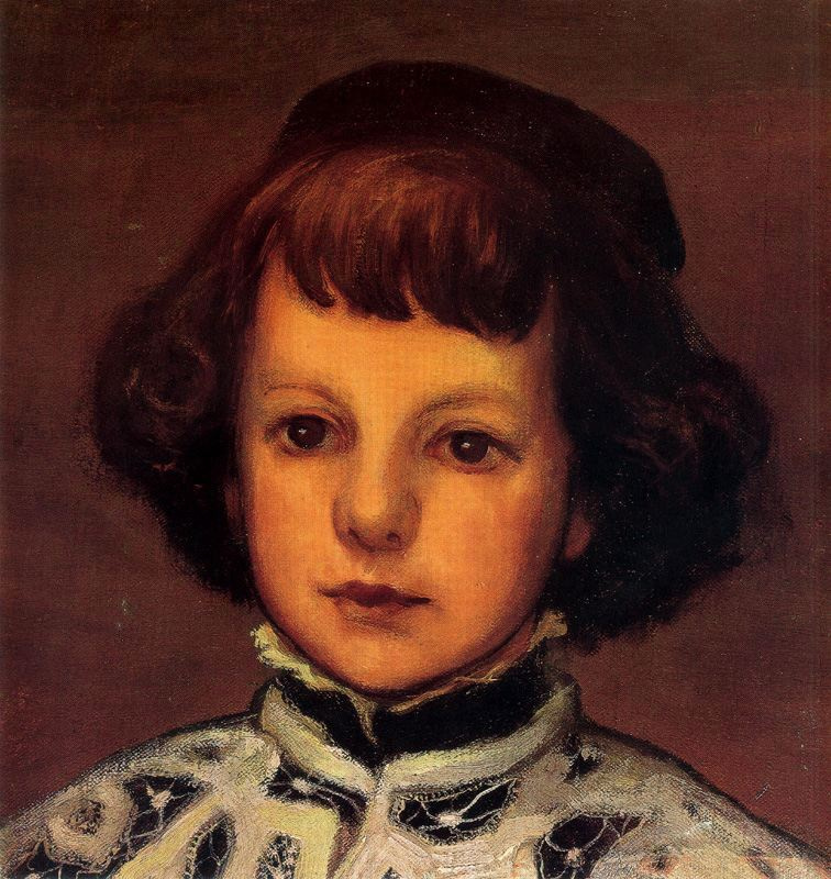 Evaristo Valle. Portrait of a boy