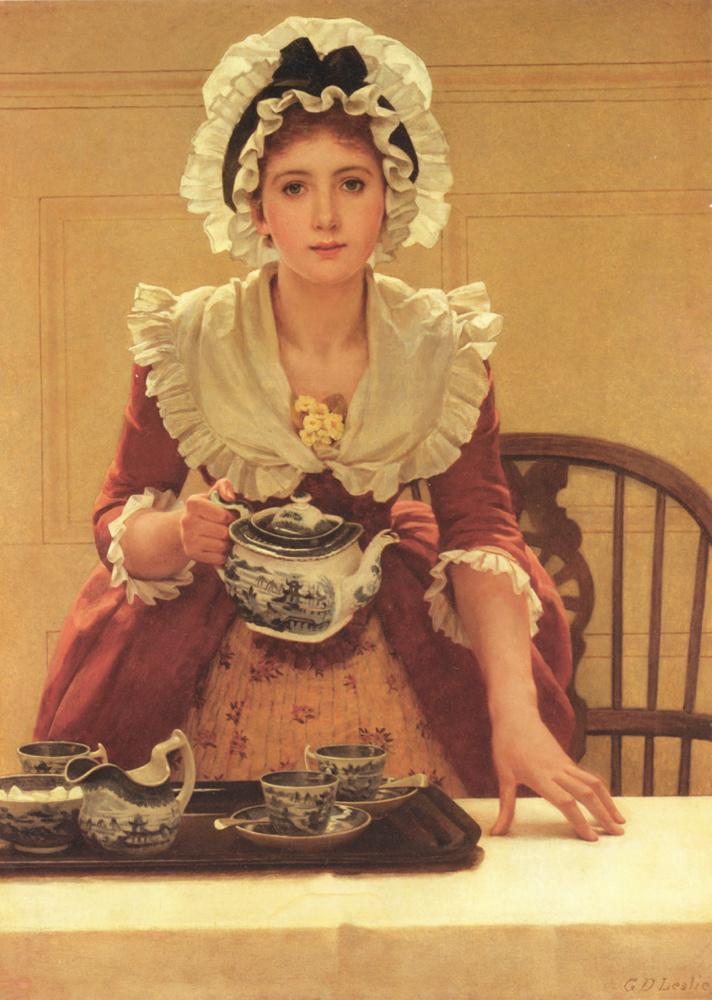 Georges Dunlop Leslie. The tea party