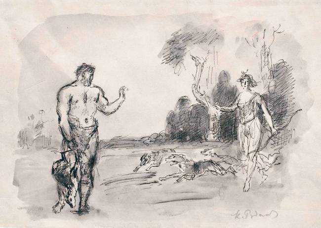 Konstantin Ivanovich Rudakov. Diana and Acteon