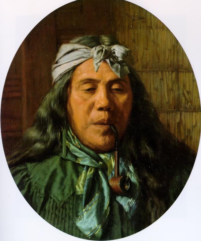 Чарльз Голди. Курящая