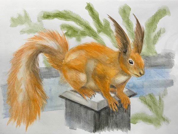 Larissa Lukaneva. Squirrel