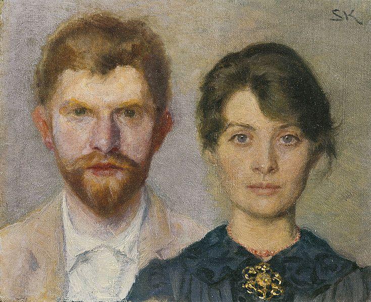 Педер Северин Крёйер. Двойной портрет Мари и П.С. Крейер