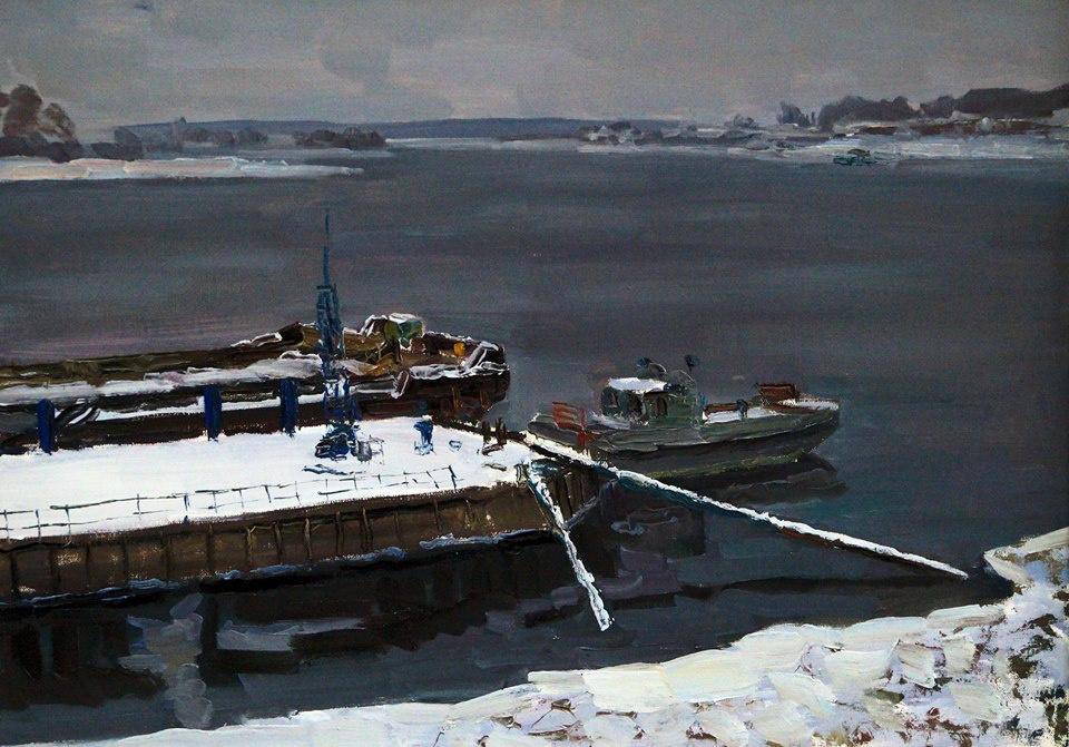 Yuri Sergeevich Kazakov 1952г.р. Uglich. Winter came.