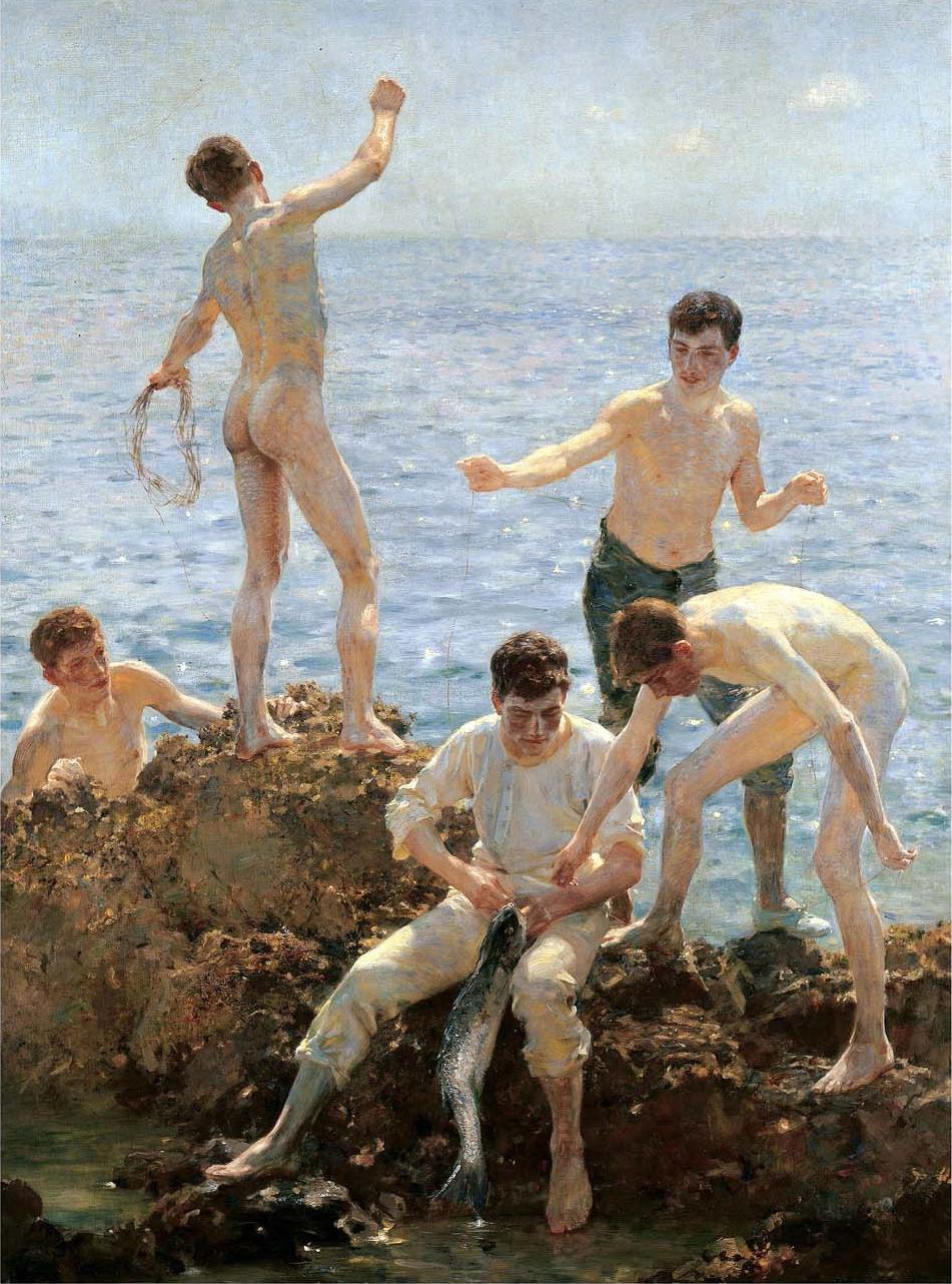 Tuke Henry Scott. 1858-1929. Midsummer morning, 1908