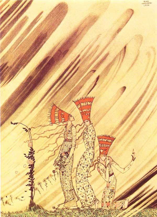 Кей Нильсен. Иллюстрация к  сказке  На восток от солнца, на запад от луны 03