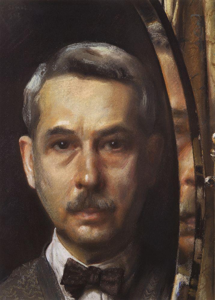 Константин Андреевич Сомов. Автопортрет в зеркале