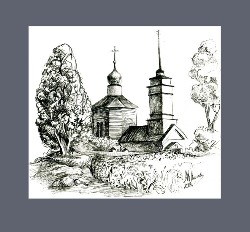 Anastasia Valerievna. Church on Voronich, Trigorskoye