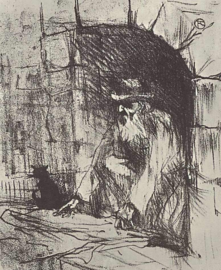 """Анри де Тулуз-Лотрек. Иллюстрация к книге Клемансо """"У подножия Синая"""""""