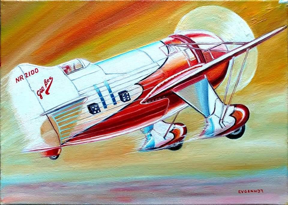 "Aviation Art. ""Gee Bee"""