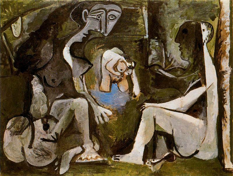 Пабло Пикассо. Завтрак на траве (по мотивам Мане)