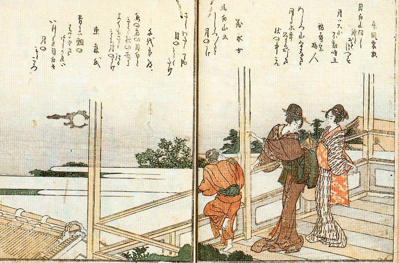 Кацусика Хокусай. Наблюдение заката