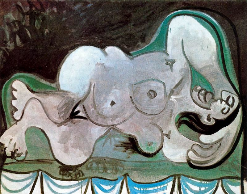 Пабло Пикассо. Женщина, лежащая на диване